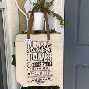 NWT The  Wisdom of Coco Chanel Tote Bag